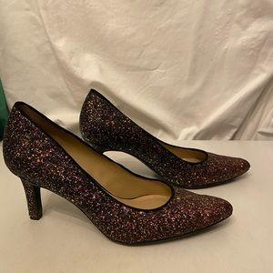 Naturalizer purple/gold glitter pumps 9.5N